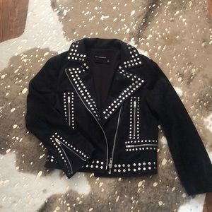 Suede Studded Jacket. Vici Collection!